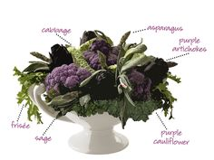 Vegetable Centerpiece diagram :) super cute!