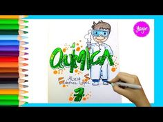IDEAS PARA MARCAR TUS CUADERNOS-Cómo marcar cuaderno de Artística-Yaye - YouTube Cover Pages, School Projects, Art Sketches, Back To School, Origami, Lettering, Youtube, Painting, Graphic Design