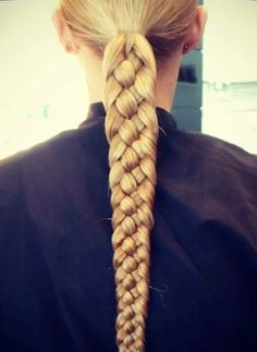 For a super polished look, try working more than the typical three braiding strands together into one sleek, tight, and gorgeous braid. A five-strand braid makes for a much more complex look.