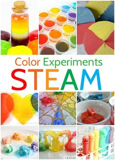 with color with these fun and amazing Color STEM Activities for Kids. Learn about chromotography, color mixing, and more.Experiment with color with these fun and amazing Color STEM Activities for Kids. Learn about chromotography, color mixing, and more. Rainbow Activities, Preschool Science Activities, Preschool Colors, Science For Kids, Color Activities For Preschoolers, Steam Activities, Creative Activities For Kids, Free Preschool, Creative Ideas