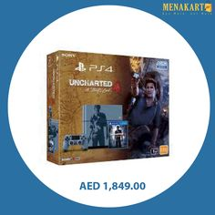 PlayStation 4 Console - Uncharted 4 Limited Edition Bundle 1TB #playstation4 #ps4 #consoles #games #gaming #gamingconsole #online #shopping #menakart