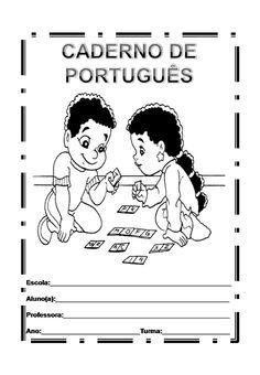 capa de caderno de português