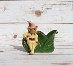 Shawnee Pottery Elf on Shoe Planter Vintage by WhimsyChicEmporium