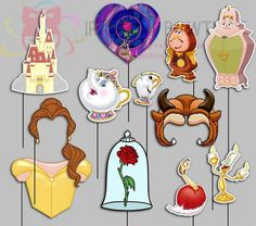 Beauty and the Beast Party Photo Booth Props by IraJoJoBowtique