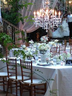 Just add a chandelier! A beautiful night at Haiku Mill www.myweddingconcierge.com.au