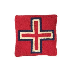 BRAVE STAR HOOKED PILLOW from Pendleton on shop.CatalogSpree.com, your personal digital mall.
