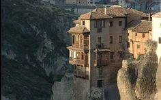 """Las Casas Colgadas de Cuenca, """"Hanging Houses"""" in Cuenca, Spain"""