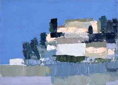 Nicolas De Stael Menerbes oil painting reproduction on canvas, handmade by our studio's skillful artists. Abstract Landscape Painting, Landscape Art, Landscape Paintings, Abstract Art, Landscapes, Art Informel, Tachisme, Oil Painting Reproductions, Art Abstrait