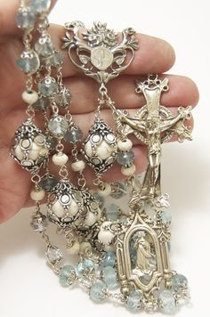 Etsy Rosary Guild Team: New at HeartFelt Rosaries--Aquamarine!