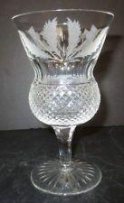 "Edinburgh Thistle 61/2"",8 0z.Cut Crystal Stem Water Goblet-Etched Thistle Design"