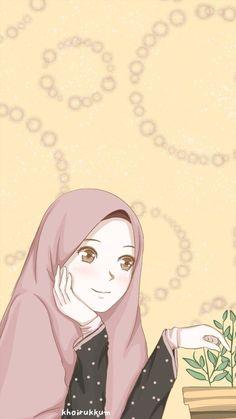 Muslim Pictures, Hijab Drawing, Cute Muslim Couples, Islamic Cartoon, Anime Muslim, Hijab Cartoon, Islamic Girl, Cool Art Drawings, Kawaii Wallpaper