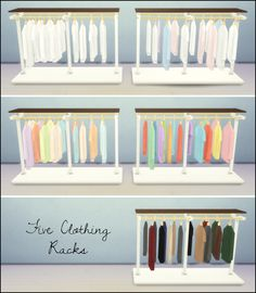 This is a set of recolours I made especially for my Wedding Boutique! The files are in separate packages, so you can choose which to install. Clothing Rack Five designs Not compatible with the Design Tool §250, found under Misc Mesh: Kardofe Large Poster Five designs Not compatible with the Design Tool §150, found under Paintings Small Poster Six designs Not compatible with the Design Tool §75, found under Paintings Shop Logo One design §...