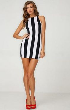 tip: Vertical stripes (especially in heels) make you look taller/longer ♥✤ | Keep the Glamour | BeStayBeautiful