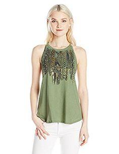 5c1576f57e0d7f Amazon.com  Billabong Junior s Star Tribe High Neck Tank  Clothing.  CanteenBillabong WomenCool ...