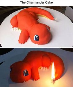 Charmander Cake This one is so cute! (also I know nothing about pokemon)