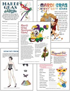 Printable Mardi Gras games