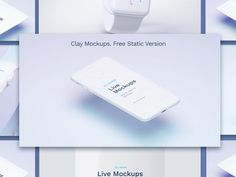 Apple Devices White Clay Mockups available freefor Sketch and Photoshop. Including Apple Watch, iPhone 7, iPad, iMac and MacBook mockups. Freebie designedby Ruslanlatypov. Download Freebie