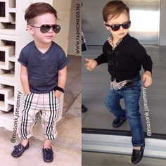 Fashion Kids & Fashion and design for kids & Boy Toddler Swag, Toddler Boy Fashion, Cute Kids Fashion, Little Boy Fashion, Toddler Boys, Kids Boys, Girl Fashion, Baby Boys, Little Boy Outfits