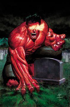 Red Hulk (General Thaddeus Ross), by John Romita Jr Red Hulk Marvel, Hulk Comic, Marvel Art, Marvel Dc Comics, Marvel Heroes, Marvel Avengers, Secret Avengers, Cosmic Comics, Univers Marvel
