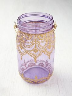 Mason Jar Lanterns - bust out the puffy paint? This is so beautiful.