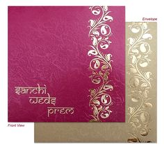 Triveni Wedding Card Shoppe, Complete view of the Indian Wedding Invitation Indian Wedding Invitation Cards, Wedding Invitation Card Design, Indian Wedding Cards, Creative Wedding Invitations, Destination Wedding Invitations, Letterpress Wedding Invitations, Wedding Card Design, Elegant Invitations, Wedding Stationery