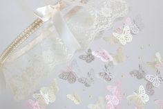 Lace Nursery Mobile Lace Pearl & Butterfly by LovebugLullabies