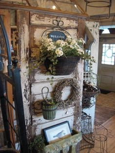 Crush: Old Doors as Displays and Room Divide. - - Booth Crush: Old Doors as Displays and Room Divide… – -Booth Crush: Old Doors as Displays and Room Divide. - - Booth Crush: Old Doors as Displays and Room Divide… – - Vintage Display, Antique Booth Displays, Antique Booth Ideas, Vintage Door Decor, Old Door Decor, Vintage Store Displays, Antique Mall Booth, Wall Decor, Entryway Decor