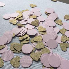 Confetti! Blush Pink and Gold Glitter confetti so perfect for this wedding season | Custom Confetti | Rustic Wedding, Bridal Shower, Bridal Brunch or Rehearsal Dinner