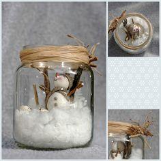 pot bonhomme de neige en porcelaine froide, pam, porcelana fria, pot décoré pour noël