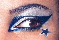Dallas Cowboys eye makeup look Dallas Cowboys Makeup, Dallas Cowboys Nail Designs, Dallas Cowboys Tattoo, Dallas Cowboys Party, Dallas Tattoo, Dallas Cowboys Funny, Dallas Cowboys Outfits, Dallas Cowboys Pictures, Dallas Cowboys Women