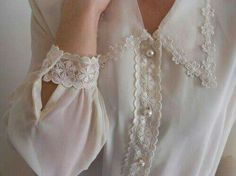 girly outfits girly outfits ideas girly outfits for women women girly outfits AT. Sleeve Designs, Blouse Designs, Sheer White Blouse, Designs For Dresses, Mode Inspiration, The Dress, Designer Dresses, Vintage Fashion, Flower Girl Dresses