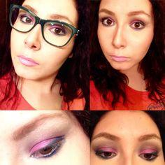 My Actual Back To School Makeup Look - Purple Eyes & Bubblegum Lips (GRWM)