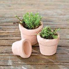 Miniature Clay Pots for a fairy garden