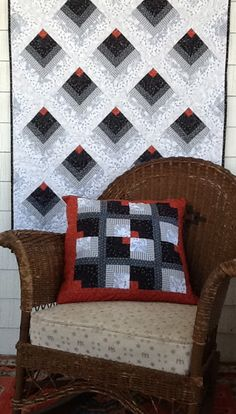 Free Pattern Download - Chevron Log Cabin & Chickadee from Andover Fabrics.
