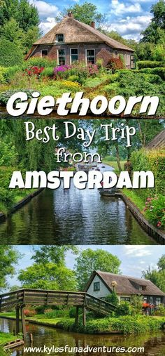 Discover Giethoorn in the Netherlands, the best day trip from Amsterdam #giethoorn #Amsterdam #Netherlands #traveltips #familytravel #europe