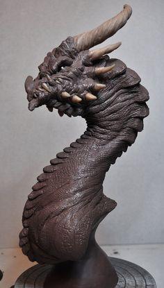 Corruptor Dragon 2 Demon bust Monster Clay by AntWatkins