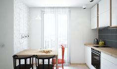 Svijetli, kompaktan stan za mladu obitelj | Uređenje doma 1 CRVENA + 2 CRNE