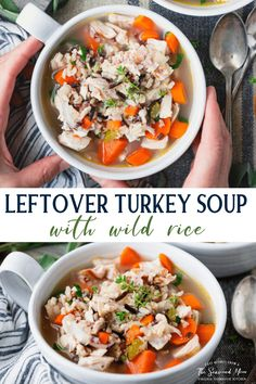 Turkey Recipes, Chicken Recipes, Leftover Turkey Soup, Smoked Turkey, Wild Rice, Rotisserie Chicken, Soups And Stews, Easy Meals, Dinner