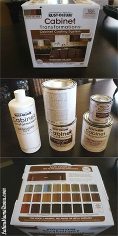 How refinish your kitchen cabinets...on the box it says you can do it to laminate cabinets as well