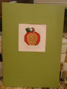 JACKOLANTERN Handcrafted SCRAPBOOK Style by CraftyCrossStitches, $6.99