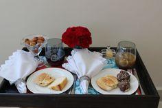 Bandeja de café da manhã para o casal