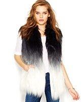GUESS Ombre Faux-Fur Ombre Vest | Macy's