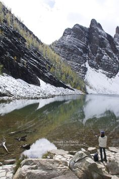 Plan your ultimate Canadian Road trip: Hike to lake Agnes in Banff National Park, B.C, Canada.