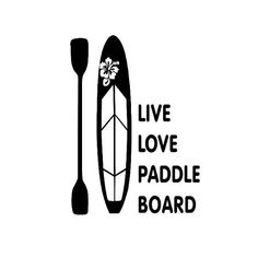 Paddle Board Vinyl Decal Sticker by GreatLakesDecals on Etsy