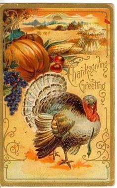 beautiful old fashion fall/thanksgiving picture