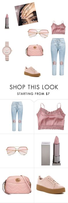 """""""Untitled #180"""" by royal08 ❤ liked on Polyvore featuring Satine, Lipstick Queen, Gucci, Call it SPRING and Nine West"""