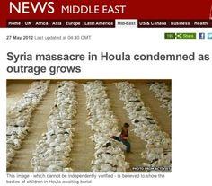 BBC News utilizó foto de Irak para una nota de masacre en Siria.