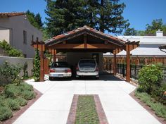 Carport Plans with Storage Lovely Architectural Look to Home S Exterior with Garage Pergola Carport Plans, Carport Garage, Pergola Carport, Steel Pergola, Pergola Swing, Pergola Shade, Diy Pergola, Pergola Ideas, Carport Ideas