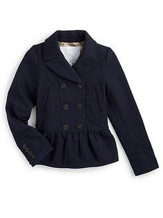 Burberry Little Girls Peplum Jacket