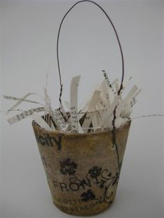 peat pot with pattern paper